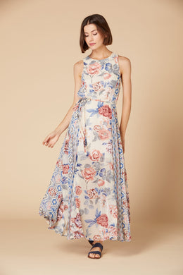 Derhy Floral Maxi Dress - Canicule - Blue SS20