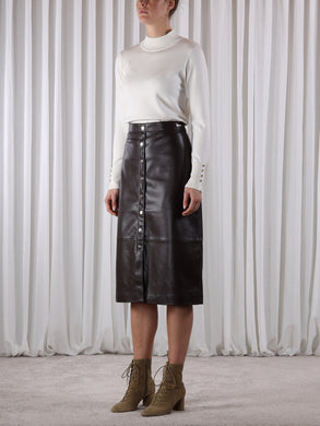 Rino & Pelle Pleather A-Line Skirt - Calcia
