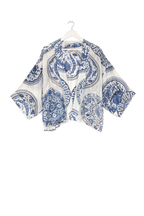 One Hundred Stars Kimono - China Plate -  Blue/White
