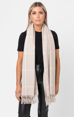 Pia Rossini Check Blanket Scarf