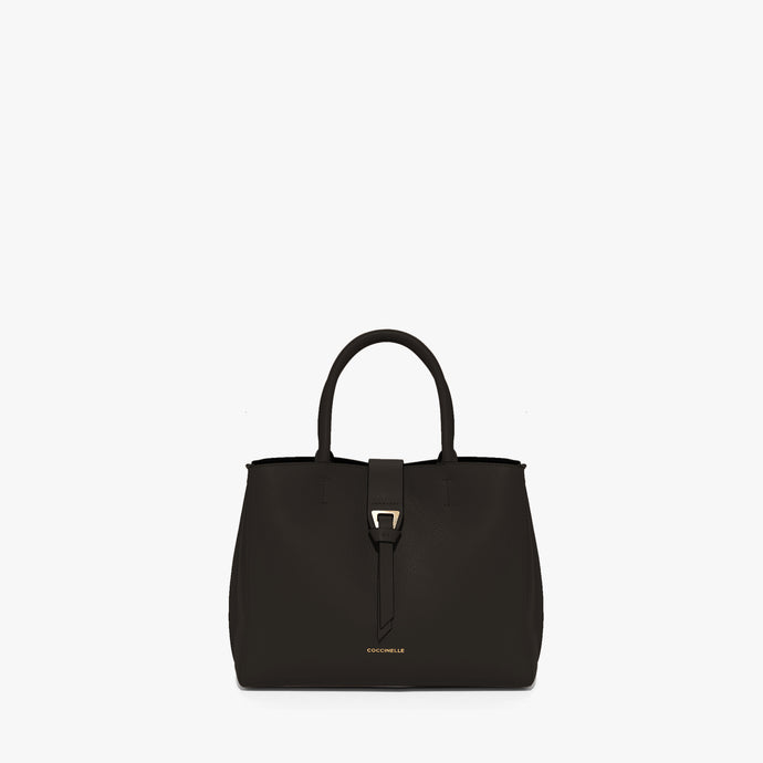 Coccinelle Alba Black Leather Bag with Top Handle