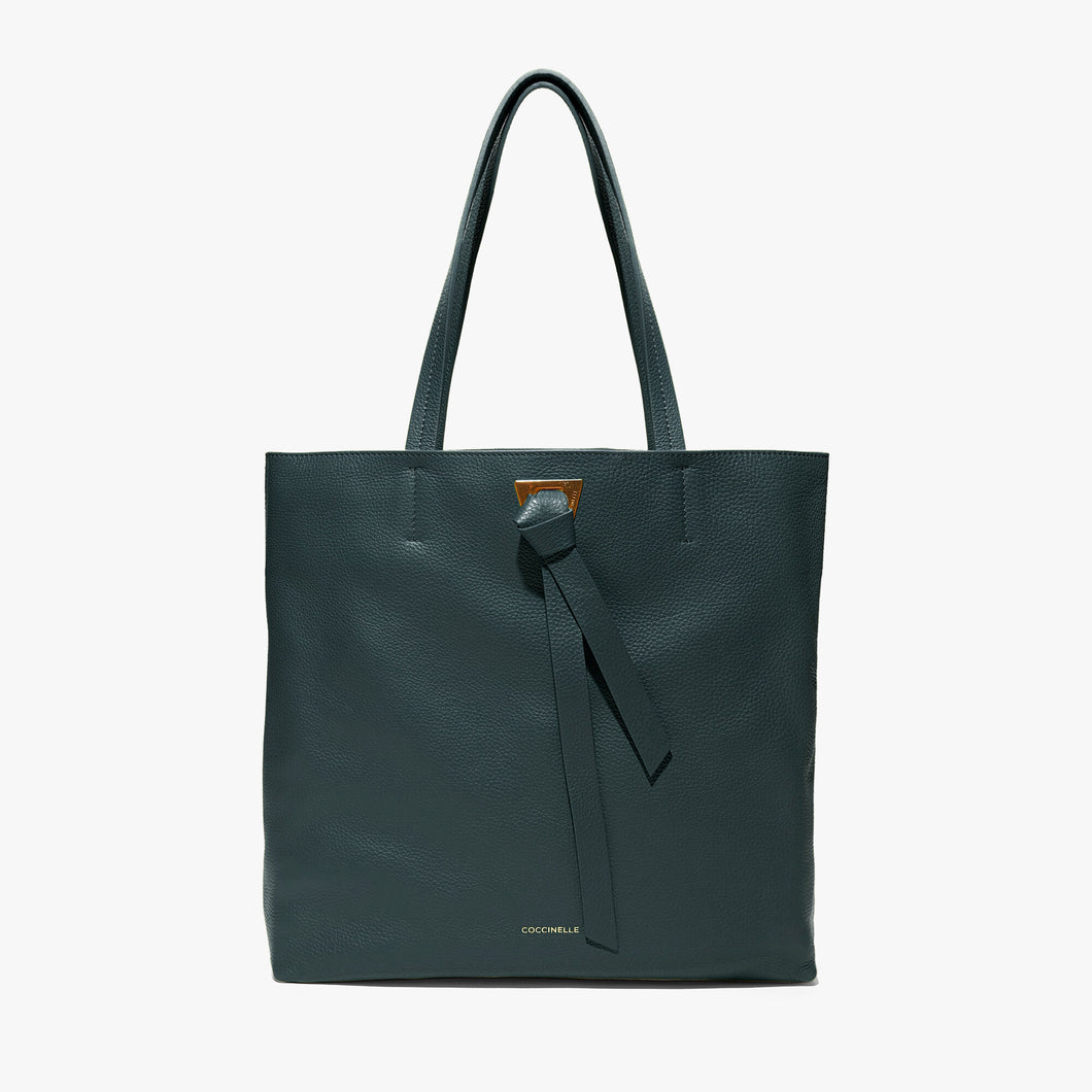 Coccinelle Mallard Green Leather Shopper Bag