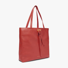 Coccinelle Red Leather Shopper Bag