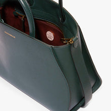 Coccinelle Mallard Green Leather Grab Bag