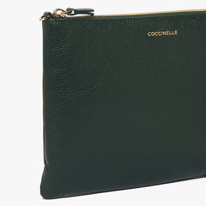 Coccinelle Black Leather Crossbody Mini Bag