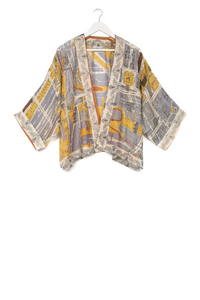 One Hundred Stars Kimono - Edinburgh & Leith - Grey/Mustard