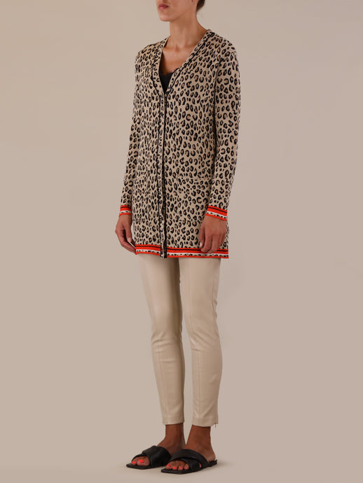 Rino & Pelle Animal Print Cardigan