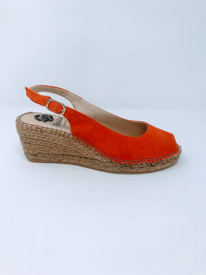 Lisa Kay Suede Wedges - Emmy - Orange SS20