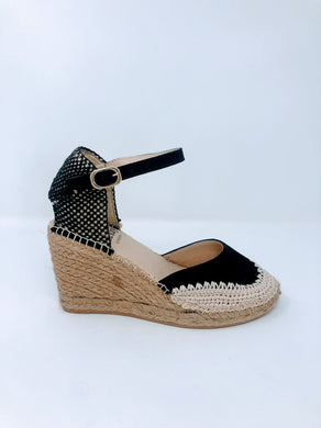Lisa Kay Espadrille Wedges - Calista - Black SS20