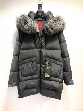 Levinsky Casual Padded Charcoal Parka