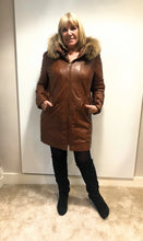 Levinsky Cognac Leather Coat