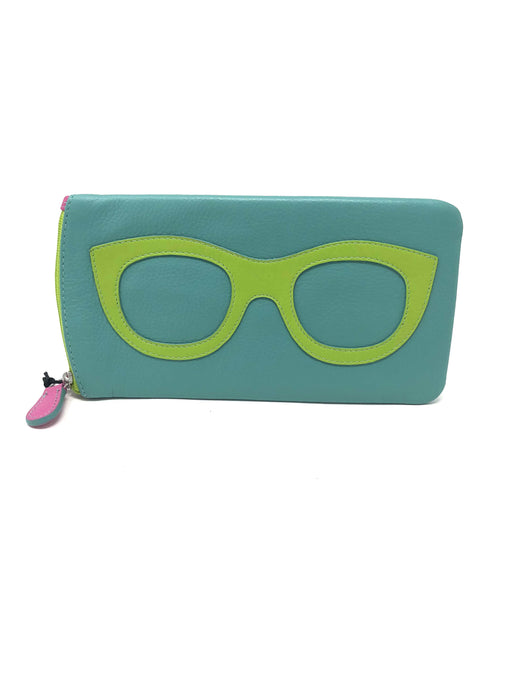 Jewn Turquoise & Green Glasses Case