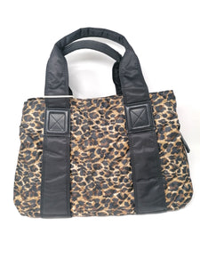 Malissa J Leopard Print Quilted Tote Bag