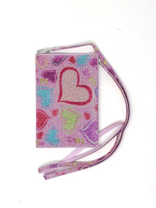 Malissa J Bling Heart Mobile Phone Bag