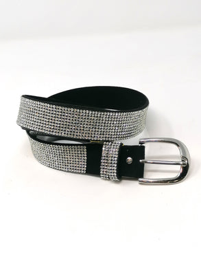 Malissa J Clear Bling Belt