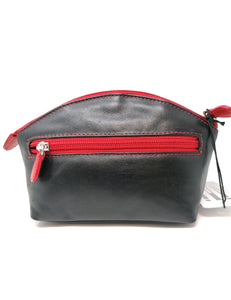 Jewn Black & Red Lip Design Make Up Bag