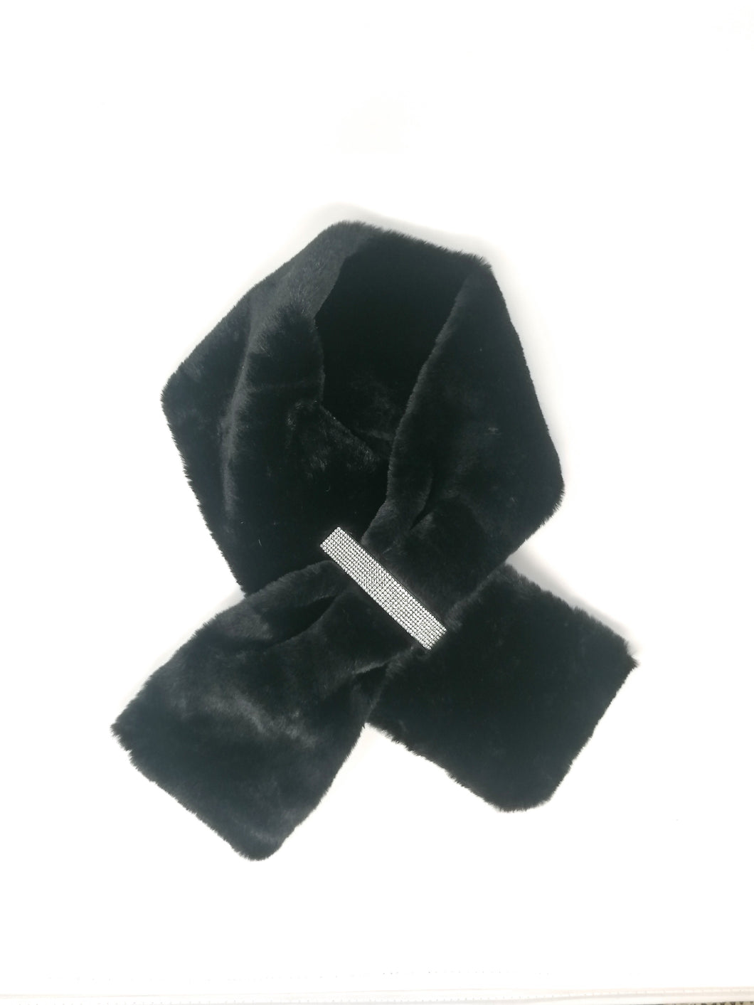 Malissa J Black Faux Fur Collar