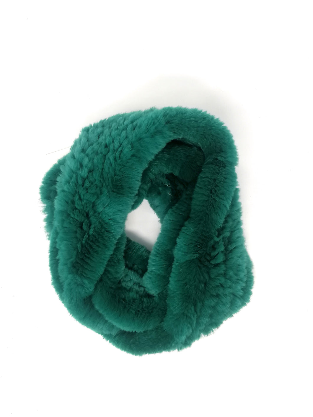 Little Red Large Emerald Green Fur Snood