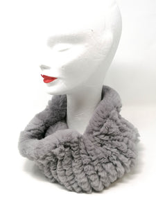 Little Red Grey Fur Snood