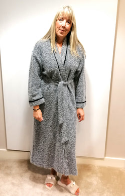 Feraud Grey Mohair Long Robe