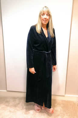 Feraud Navy Velour Robe