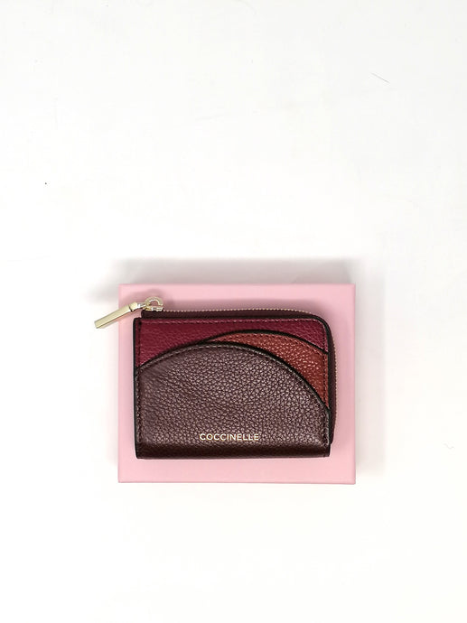 Coccinelle Arc Tricolour Small Red Leather Purse