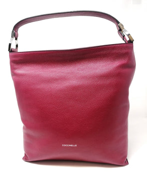 Coccinelle Keyla Deep Violet Leather Bag