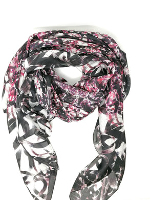 Laura Orchant Large Square Silken Jewel Pink Scarf