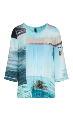Marc Cain Collection Top NC 55.01 W23 Aqua