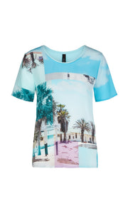 Marc Cain Collection T-Shirt NC 55.04 W23 Aqua