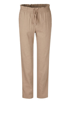 Marc Cain Collection Linen Trousers NC 81.49 W47 Caramel