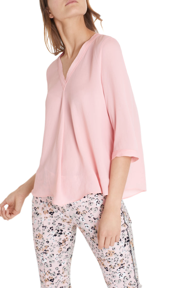 Marc Cain Collection Pink V-Neck Blouse