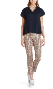 Marc Cain Collection Lizard Print Trousers