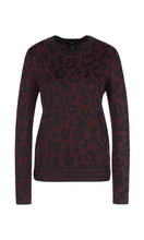 Marc Cain Collection Aubergine & Black Animal Print Sweater