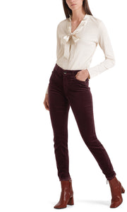 Marc Cain Collection Aubergine Velvet Jeans