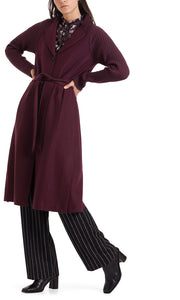 Marc Cain Collection Aubergine Boiled Wool Coat