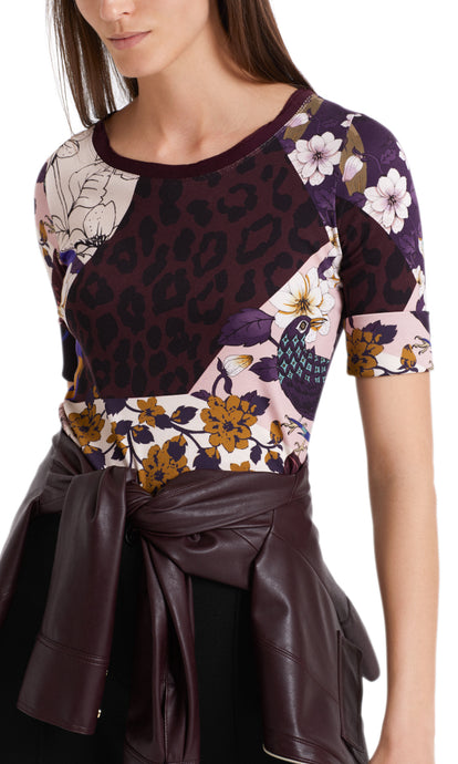 Marc Cain Collection Patchwork Print T-Shirt