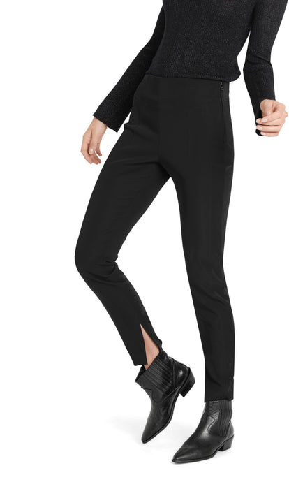 Marc Cain Collection Black Trousers with Side Splits