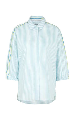 Marc Cain Sport Shirt NS 51.19 W49 Aqua/White