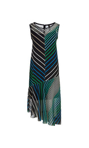 Marc Cain Sport Maxi Dress NS 21.08 W26 Green/Aqua