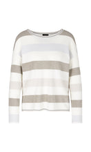 Marc Cain Sport Cream & Gold Metallic Stripe Sweater