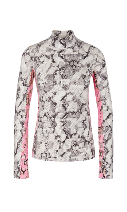 Marc Cain Sport Snake Print Turtleneck Top