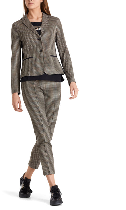 Marc Cain Sport Fitted Check Jacket