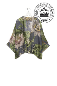 One Hundred Stars Kimono - Kew Passion Flower - Grey