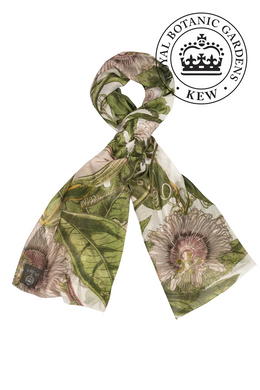 One Hundred Stars Scarf - KEW Passion Flower - Ivory