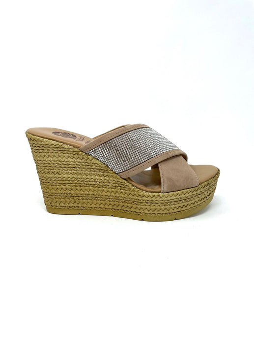 Lisa Kay Diamante Wedge Sandals