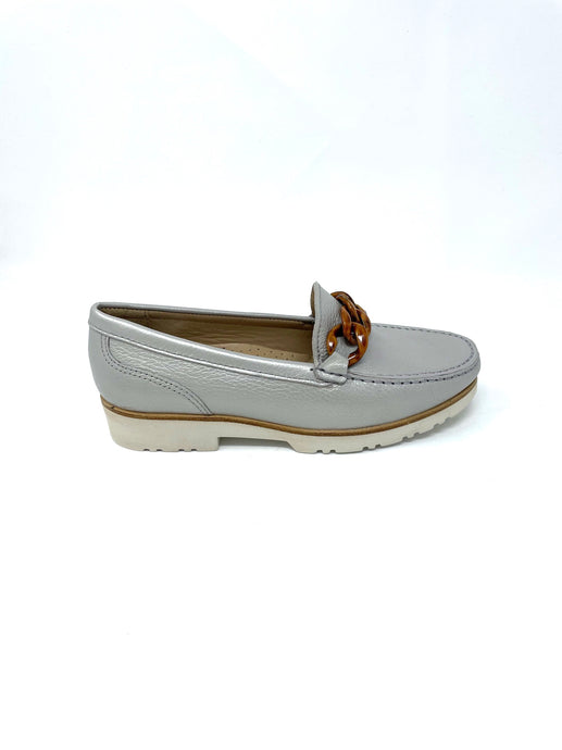 Lisa Kay Silver Loafers