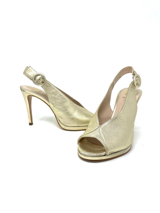 Lisa Kay Gold Platform Shoes