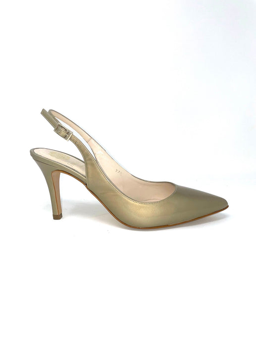 Lisa Kay Taupe Slingback Shoes