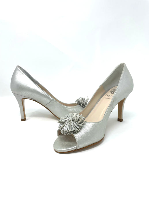 Lisa Kay Silver Pom Pom Court Shoes